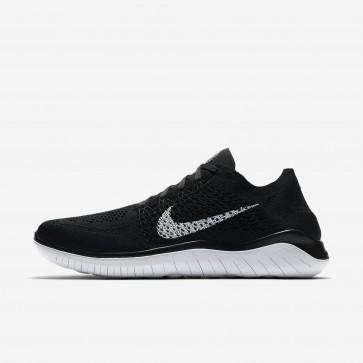 Chaussures de course Nike Free RN Flyknit 2018 pour homme noir et blanc