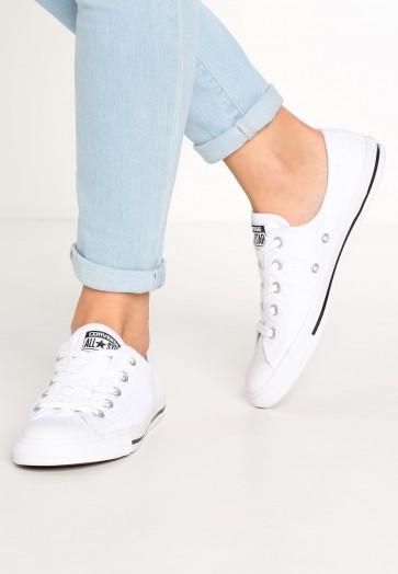Converse Chuck Taylor All Star Dainty - Chaussures de Sport Basse/Faible - Blanc/Noir - Femme