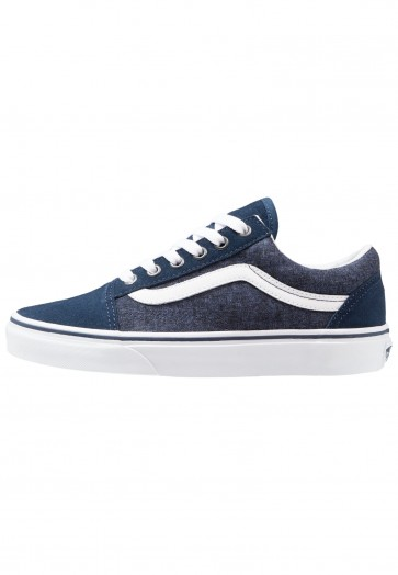 Vans Old Skool - Chaussures de Sport Basse/Faible - Bleu/Bleu Clair - Femme/Homme