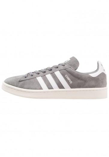 Adidas Originals Campus - Chaussures de Sport Basse/Faible - Gris/Blanc de Craie/Blanc - Femme/Homme