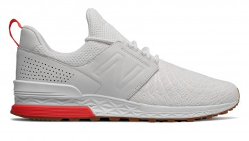Chaussures pour homme New Balance 574 Sport Tournament White with Flame blanche et rosse