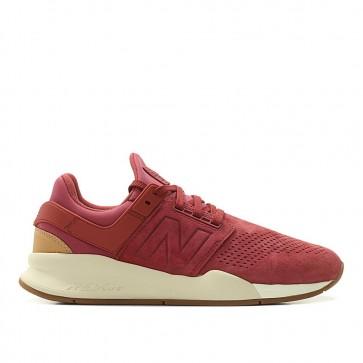 New Balance MS247 GS Homme 656871-60-13 Foncé Rouge/De Blanc/Lumière Marron Chaussures de Fitness