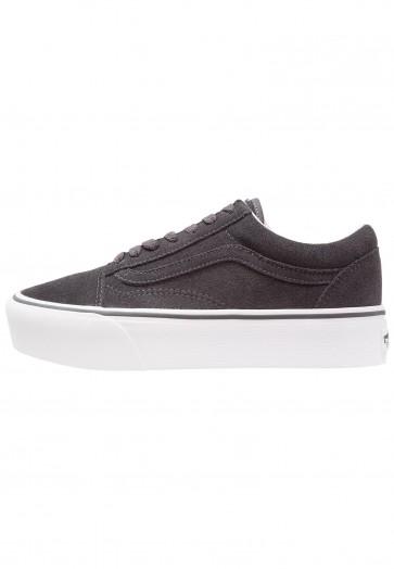 Vans Old Skool Platform - Chaussures de Sport Basse/Faible - Blanc Sommet - Femme