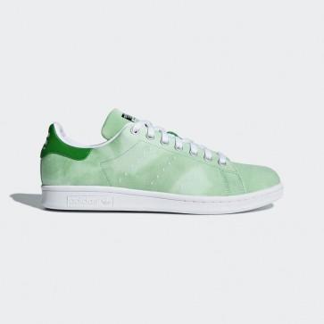 Femme chaussures de tennis pharrell williams hu holi Adidas Stan Smith - Nouveau vert et blanc