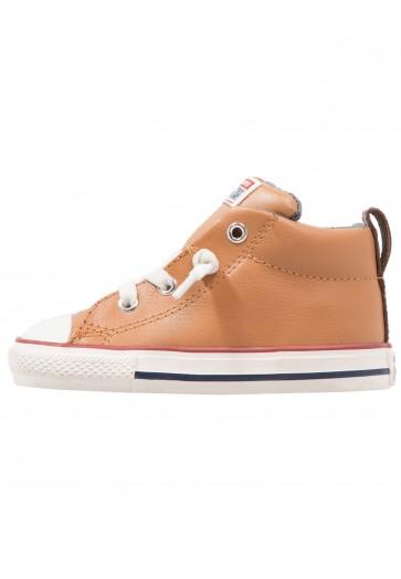 Converse Chuck Taylor All Star Street - Chaussure de Running Haute/High - Sucre de Canne/Rouge Terra/Marin - Enfant