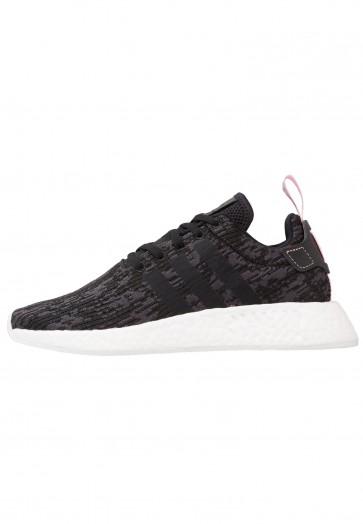 Adidas Originals NMD_R2 - Chaussures de Sport Basse/Faible - Noir Noyau/Rose Merveille - Femme