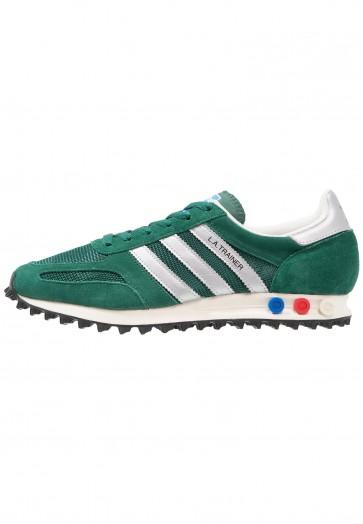 Adidas Originals LA Trainer OG - Chaussures de Sport Basse/Faible - Collegiate Vert/Argent Mat/Noir Noyau - Femme/Homme