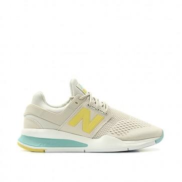 New Balance WS247 FE - Chaussures de Sport - Lumière Gris/Jaune/Turquoise 656911-50-12 - Femme