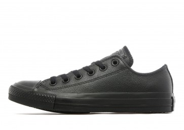 Converse All Star Ox Leather Mono Homme Noir Chaussures de Fitness