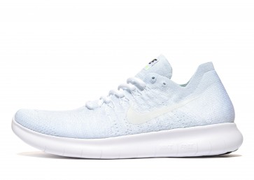 Nike Free RN Flyknit 2017 Homme Blanc Chaussures de Fitness