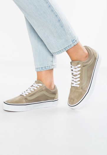 Vans Old Skool - Chaussures de Sport Basse/Faible - Kaki - Femme