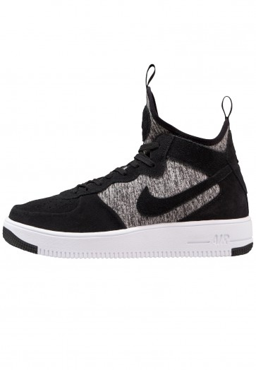 Nike Footwear Air Force 1 Ultraforce MID PRM - Chaussure de Running Haute/High - Noir/White - Homme