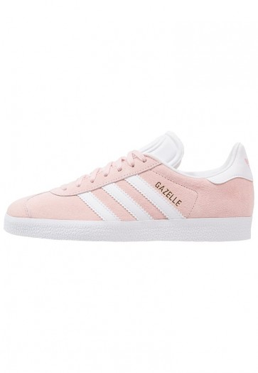 Adidas Originals Gazelle - Chaussures de Sport Basse/Faible - Rose Vapeur/Blanc/Or Métallisé - Femme/Homme