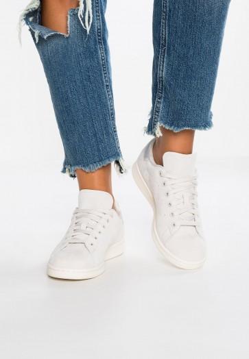 Adidas Originals Stan Smith - Chaussures de Sport Basse/Faible - Talc/Gris Perle/Blanc Pur/Blanc - Femme