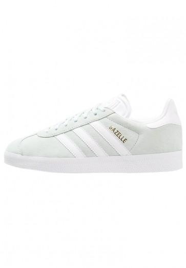 Adidas Originals Gazelle - Chaussures de Sport Basse/Faible - Vert Clair/Menthe de Glace/Blanc/Or Métallisé - Femme/Homme