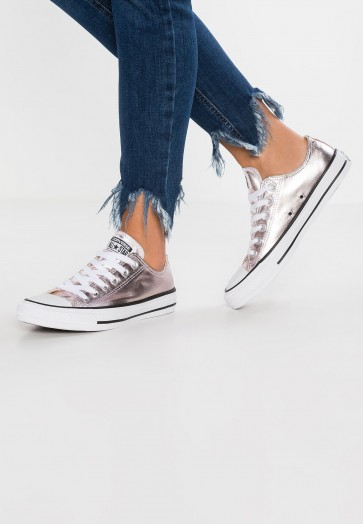 Converse Chuck Taylor All Star Metallic Canvas - Chaussures de Sport Basse/Faible - Rose Quartz/Blanc/Noir - Femme