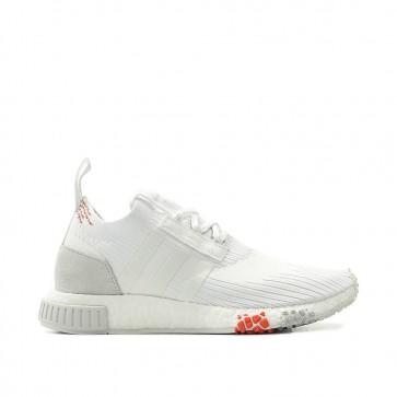 Adidas Originals NMD Racer PK Primeknit Boost - Chaussures de Sport - CQ2033 Blanc/Lumière Gris/Rouge Femme