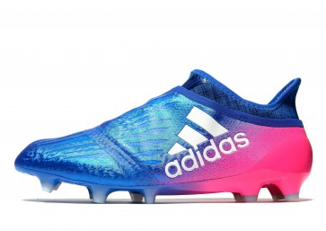 Adidas X16+ Pure Chaos FG Homme Bleu , Rouge Chaussures de Fitness