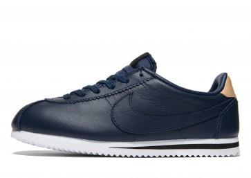 Nike Cuir Cortez Homme Bleu Chaussures de Fitness