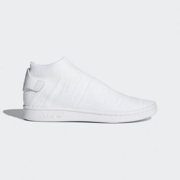 Chaussures de sport - Adidas Stan Smith Sock Primeknit pour femmes - Blanc pur