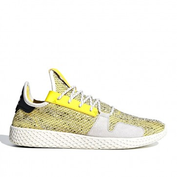 Homme Adidas Originals = Pharrell Williams Solarhu Tennis V2 'Human Race' Formateurs Jaune/Blanc/Lumière Gris BB9543