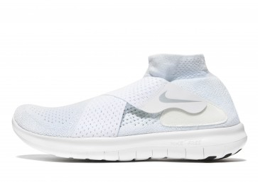 Nike Free Run Motion Flyknit 2 Homme Blanc Chaussures de Fitness