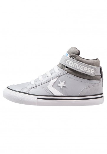 Converse Pro Blaze Strap - Chaussure de Running Haute/High - Gris Loup/Blanc - Enfant