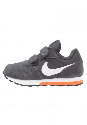 Nike Footwear MD Runner 2 - Chaussures de Sport Basse/Faible - Anthracite/Blanc/Orange Terra - Enfant