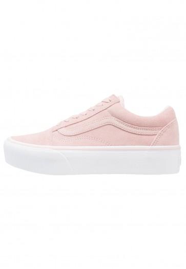 Vans Old Skool Platform - Chaussures de Sport Basse/Faible - Rose/Blanc Sommet - Femme