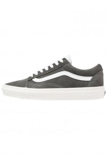 Vans Old Skool - Chaussures de Sport Basse/Faible - Gunmetal/Noir/Blanc - Femme/Homme