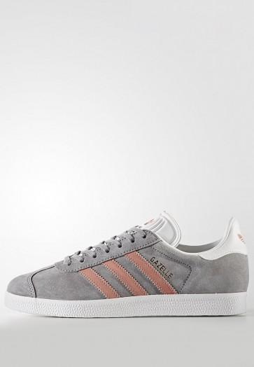 Adidas Originals Gazelle - Chaussures de Sport Basse/Faible - Gris - Femme