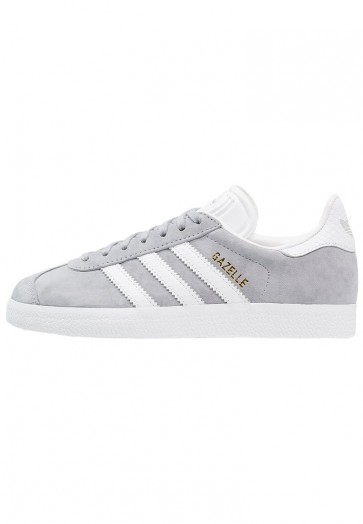 Adidas Originals Gazelle - Chaussures de Sport Basse/Faible - Gris Moyen/Blanc/Or Métallisé - Femme