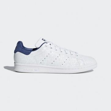 Femmes Originals Chaussure Adidas Stan Smith motif géométrique - Noble Indigo/bleu marin et Blanc
