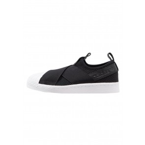Adidas Originals Superstar Slip On - Chaussures de Sport Basse/Faible - Noir Noyau/Blanc - Femme