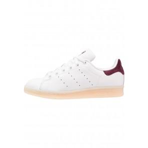Adidas Originals Stan Smith - Chaussures de Sport Basse/Faible - Blanc/Bourgogne - Femme/Homme