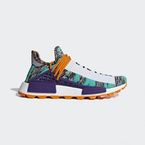 Adidas Originals Pharrell Williams Solarhu NMD Homme BB9528 Turquoise/Orange/Blanc Chaussures de Fitness