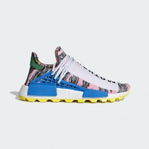 Adidas Originals Pharrell Williams Solarhu NMD Homme Rose/Blanc/Bleu BB9531 Chaussures de Fitness