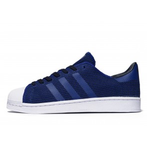 Adidas Originals Superstar Knit Homme Bleu Chaussures de Fitness