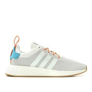 Adidas Originals NMD R2 Summer 'Atric' - Chaussures de Sport - Lumière Gris/Blanc/Orange CQ3080 Femme
