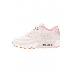 Nike Footwear Air Max 90 Lea - Chaussures de Sport Basse/Faible - Rouge Poussière D'étoile/Voile/Brun Moyen - Femme