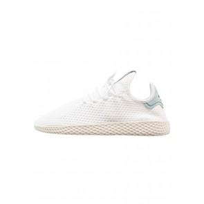 Adidas Originals PW Tennis HU - Chaussures de Sport Basse/Faible - Blanc/Vert Tactile - Femme/Homme