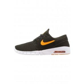 Nike SB Stefan Janoski Max - Chaussures de Sport Basse/Faible - Séquoia/Orange Changer/Brun Jaunâtre - Femme/Homme