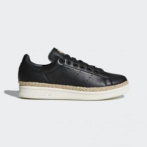 Femmes Adidas Stan Smith New Bold cuir Chaussure - Noyau noir et Blanc