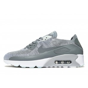 Nike Air Max 90 Ultra 2.0 Flyknit Homme Gris Chaussures de Fitness