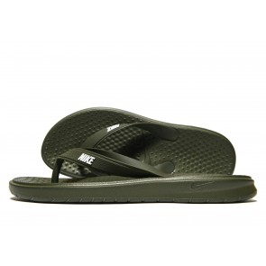 Nike Solay Flip Flops Homme Vert Chaussures de Fitness