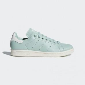 Femme chaussures de sport Adidas Stan Smith Cuir souple - Vert avec Blanc