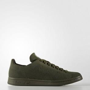 Adidas Chaussure Stan Smith Primeknit pour femme - Cargo de nuit/Vert olive foncé