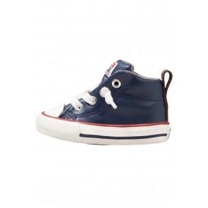 Converse Chuck Taylor All Star Street - Chaussure de Running Haute/High - Marin Minuit/Marin/Rouge Terra/Héron - Enfant
