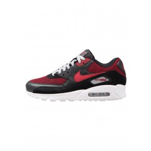 Nike Footwear Air Max 90 Essential - Chaussures de Sport Basse/Faible - Noir/Rouge Dur/Gris Loup/Blanc - Homme