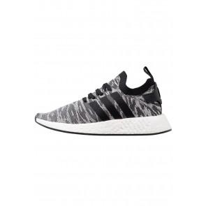 Adidas Originals NMD_R2 PK - Chaussures de Sport Basse/Faible - Noir Noyau/Blanc - Femme/Homme